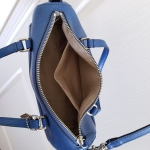 Coach Bags - Coach Blue Cossbody Purse with Silver Hardware
